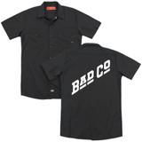 Bad Company Bad Co Logo (Back Print) Adult Work Shirt Black