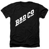 Bad Company Bad Co Logo Adult Heather T-Shirt Black