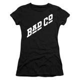 Bad Company Bad Co Logo Junior Women's Sheer T-Shirt Black