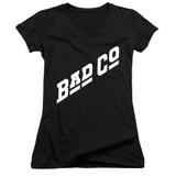 Bad Company Bad Co Logo Junior Women's V-Neck T-Shirt Black