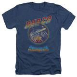 Bad Company Shooting Star Adult Heather T-Shirt Navy