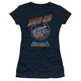 Bad Company Shooting Star Junior Women's Sheer T-Shirt Navy