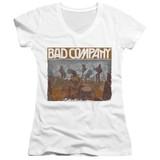 Bad Company Swan Song Junior Women's V-Neck T-Shirt White