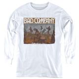 Bad Company Swan Song Youth Long Sleeve T-Shirt White