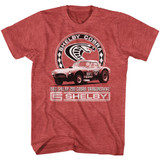 Carroll Shelby Motors Shelby Dragon Snake Red Heather T-Shirt
