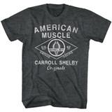 Carroll Shelby Motors Shelby Helby Originals Black Heather T-Shirt