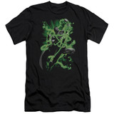 Superman Kryptonite Chains Adult 30/1 T-Shirt Black