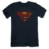 Superman Crackle S Adult 30/1 T-Shirt Navy
