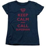 Superman Call Superman Women's T-Shirt Navy