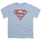 Superman Super S Youth T-Shirt Light Blue
