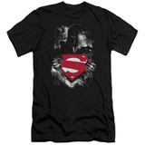 Superman Darkest Hour Adult 30/1 T-Shirt Black