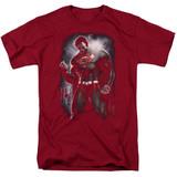 Superman Light Of The Sun Adult 18/1 T-Shirt Cardinal