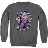 Superman Bizzaro Breakthrough Adult Crewneck Sweatshirt Charcoal