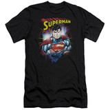 Superman Glam Adult 30/1 T-Shirt Black