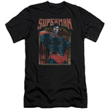 Superman Head Bang Adult 30/1 T-Shirt Black