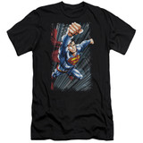 Superman Faster Than Adult 30/1 T-Shirt Black