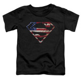 Superman Super Patriot Toddler T-Shirt Black