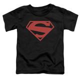 Superman 52 Red Block Toddler T-Shirt Black