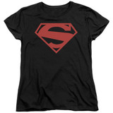 Superman 52 Red Block Women's T-Shirt Black