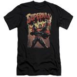 Superman Lift Up Adult 30/1 T-Shirt Black