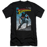 Superman Alternate Adult 30/1 T-Shirt Black