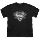 Superman Biker Metal Youth T-Shirt Black