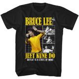 Bruce Lee Bruce Box Black Adult T-Shirt