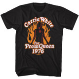 Carrie Prom Queen 1976 Black Adult T-Shirt