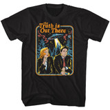 The X-Files Retro Book Cover Black Adult T-Shirt