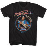Jimi Hendrix UK Tour 69 Black Adult T-Shirt