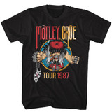 Motley Crue Tour 1987 Black Adult T-Shirt