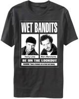 Home Alone Wet Bandits Black Adult T-Shirt