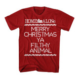 Home Alone Filthy Crosstitch Red Adult T-Shirt