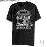 The Sandlot Group Legends Distressed Black Heather Adult T-Shirt