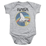 NASA Shuttle Baby Onesie T-Shirt Athletic Heather