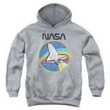 NASA Shuttle Youth Pullover Hoodie Sweatshirt Athletic Heather