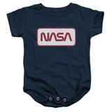 NASA Rectangular Logo Baby Onesie T-Shirt Navy