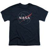 NASA Distressed Logo Youth T-Shirt Navy