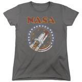 NASA Retro Shuttle Women's T-Shirt Charcoal