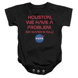 NASA Problematic Diaper Baby Onesie T-Shirt Black