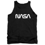 NASA Worm Logo Adult Tank Top T-Shirt Black