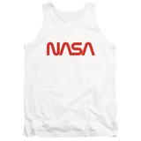 NASA Worm Logo Adult Tank Top T-Shirt White