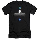 NASA Moon Landing Simple Adult 30/1 T-Shirt Black