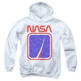 NASA To The Stars Youth Pullover Hoodie Sweatshirt White
