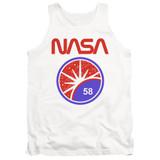 NASA Stars Adult Tank Top T-Shirt White