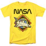 NASA 1981 Adult 18/1 T-Shirt Yellow