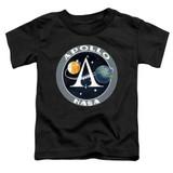 NASA Apollo Mission Patch Toddler T-Shirt Black