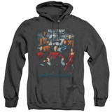 Star Trek 25th Anniversary Crew Adult Heather Hoodie Sweatshirt Black
