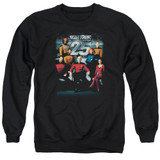 Star Trek 25th Anniversary Crew Adult Crewneck Sweatshirt Black