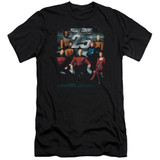 Star Trek 25th Anniversary Crew Adult 30/1 T-Shirt Black